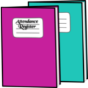 download Attendance Register clipart image with 315 hue color