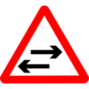 Roadsign Two Way Crosses