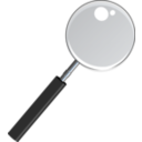 Magnifying Glass With Transparent Glass