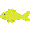 download Cartoon Fish clipart image with 45 hue color