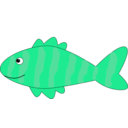 download Cartoon Fish clipart image with 135 hue color