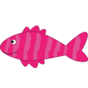 download Cartoon Fish clipart image with 315 hue color