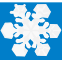 download Snowflake clipart image with 135 hue color