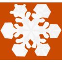 download Snowflake clipart image with 315 hue color