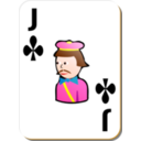 White Deck Jack Of Clubs