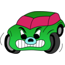 download Comic Red Angry Car clipart image with 135 hue color