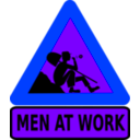 download Men At Work clipart image with 225 hue color