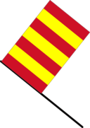 Yellow Red Stripped Flag
