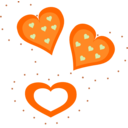 Valentine Orange Hearts