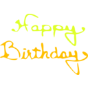 download Happy Birthday clipart image with 45 hue color