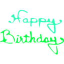 download Happy Birthday clipart image with 135 hue color