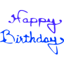 download Happy Birthday clipart image with 225 hue color