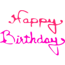 download Happy Birthday clipart image with 315 hue color