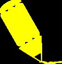 Pencil Stylized Yellow