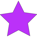 download Simple Star clipart image with 225 hue color
