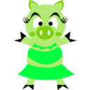download Madame Pig clipart image with 135 hue color