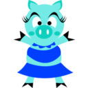 download Madame Pig clipart image with 225 hue color