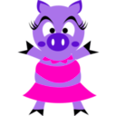 download Madame Pig clipart image with 315 hue color