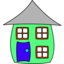 download House001 clipart image with 135 hue color