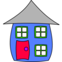 download House001 clipart image with 225 hue color