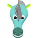 download Comic Horse Face clipart image with 135 hue color