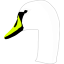 download Swan clipart image with 45 hue color
