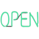 download Open Sign clipart image with 315 hue color
