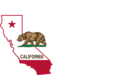 California Outline And Flag