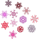download Snowflakes clipart image with 135 hue color