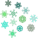 download Snowflakes clipart image with 315 hue color