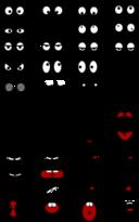 Cartoon Mouth N Eyes