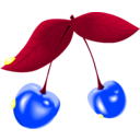 download Cherry clipart image with 225 hue color