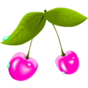 download Cherry clipart image with 315 hue color