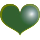 download Red Heart clipart image with 225 hue color
