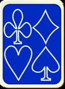 Card Backs Simple Blue