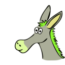 download Drawn Donkey clipart image with 45 hue color