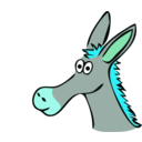 download Drawn Donkey clipart image with 135 hue color