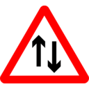 Roadsign Two Way Ahead