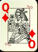 Guyenne Deck Queen Of Diamonds