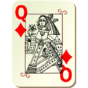 Guyenne Deck Queen Of Diamonds