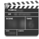 Motion Picture Film Slate Clapper