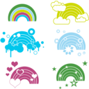 download Rainbow Embellishments clipart image with 225 hue color
