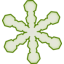 download Snowflake clipart image with 225 hue color