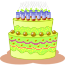 download Birthday Cake clipart image with 45 hue color