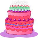 download Birthday Cake clipart image with 315 hue color