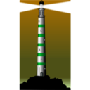 download Lighthouse clipart image with 135 hue color