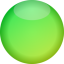 Empty Button Green