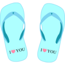 Thong Light Blue With I Love You