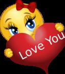 Love You Girl Smiley Emoticon