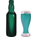 download Bottle And Glass clipart image with 135 hue color